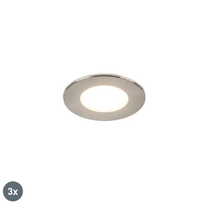Set-van-3-inbouwspots-rond-staal-incl.-LED-IP65---Simply