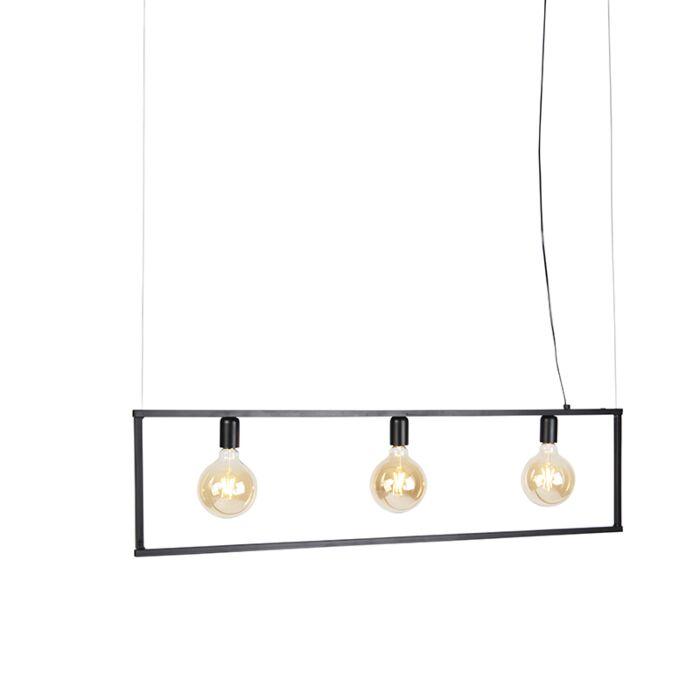 Moderne-hanglamp-zwart-3-lichts---Simple-Cage