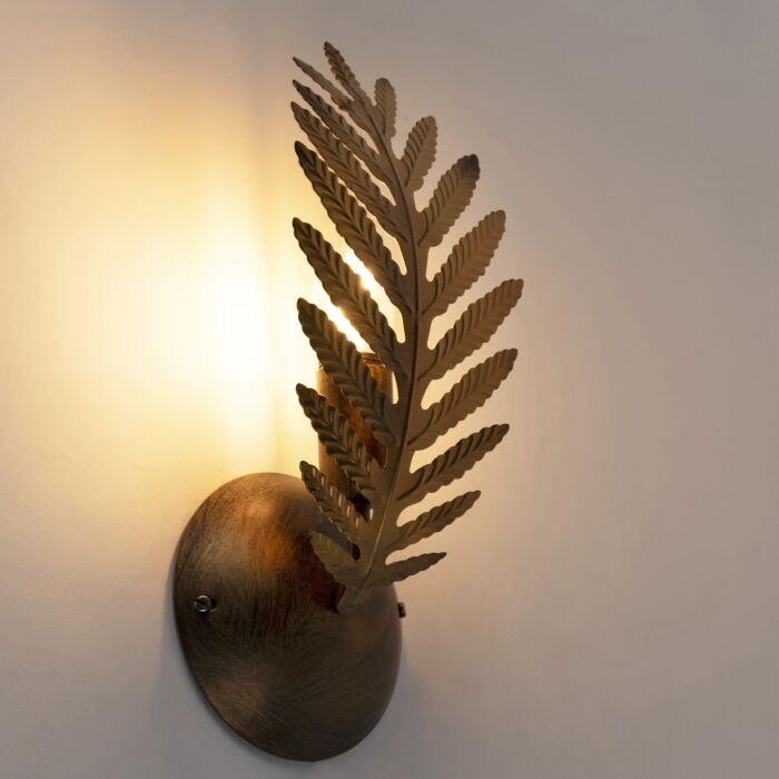 Vintage-wandlamp-goud---Botanica