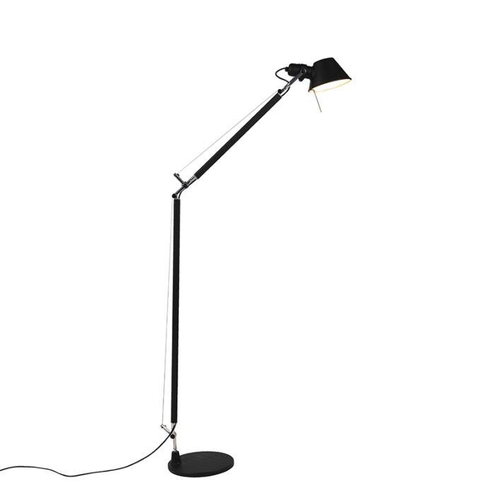 Vloerlamp-zwart-verstelbaar---Artemide-Tolomeo-Lettura
