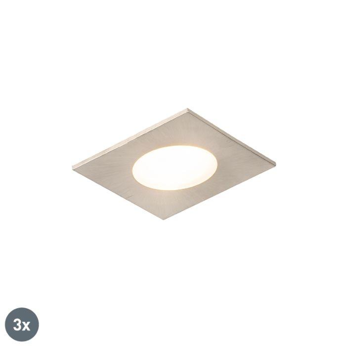 Set-van-3-inbouwspots-vierkant-staal-incl.-LED-IP65---Simply