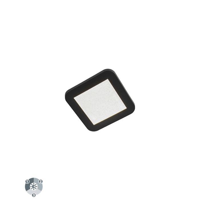 Plafondlamp-zwart-incl.-LED-3-staps-dimbaar-IP44---Steve