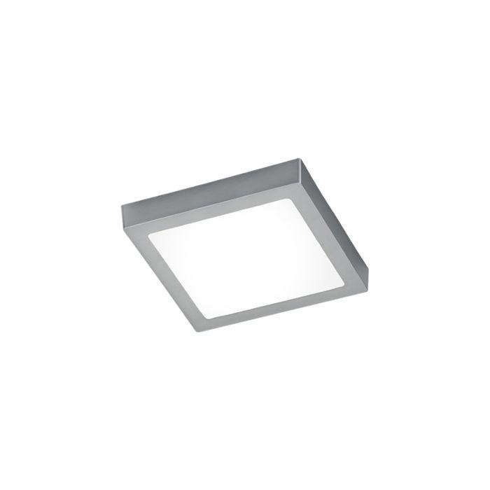 Moderne-vierkante-plafondlamp-staal-met-glas-incl.-LED---Boy
