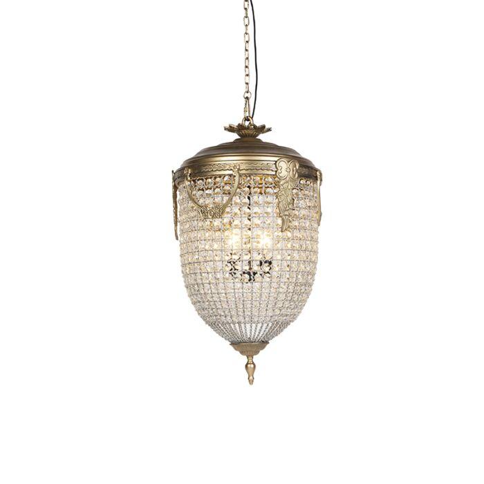 Vintage-hanglamp-kristal-45cm-goud---Cesar