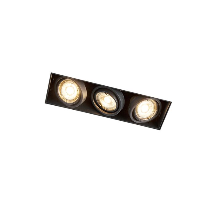Inbouwspot-zwart-draai--en-kantelbaar-trimless-3-lichts---Oneon