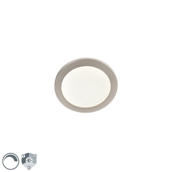 Plafondlamp-22,5-cm-incl.-LED-3-staps-dimbaar-IP44---Steve