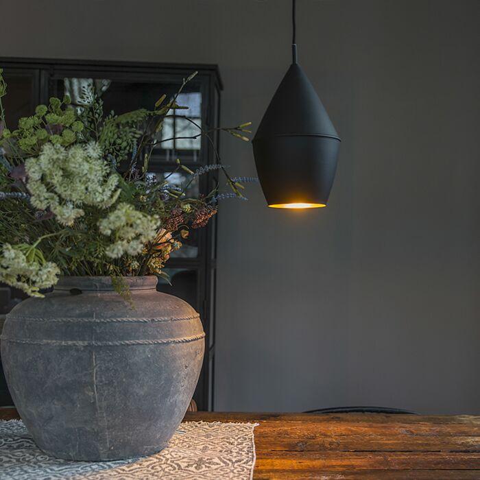 Moderne-hanglamp-zwart-met-goud---Depeche-Jacob