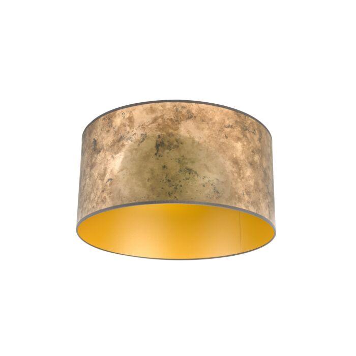 Lampenkap-brons-50/50/25-met-gouden-binnenkant