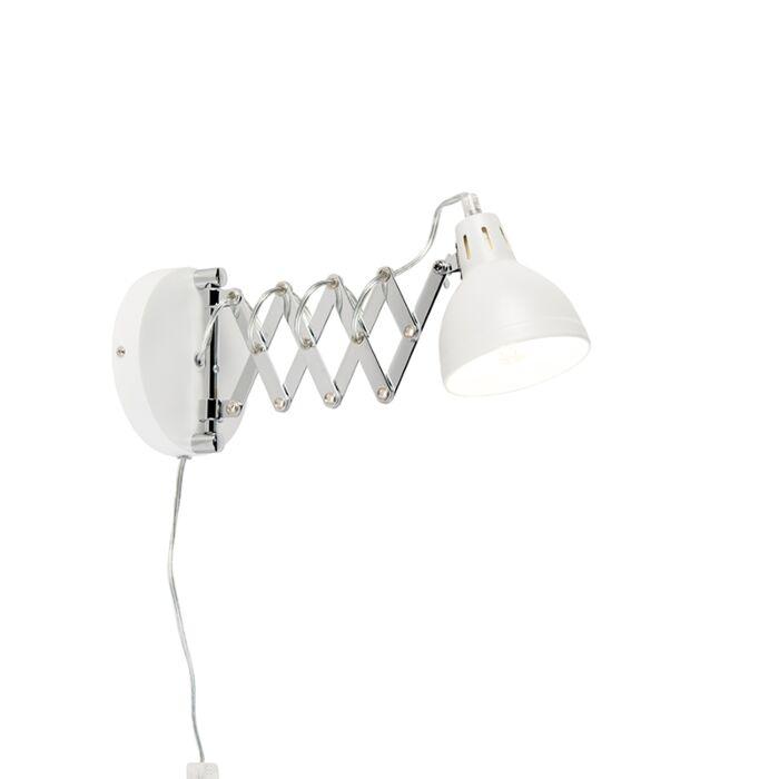 Industriële-wandlamp-wit-verstelbaar---Forbici