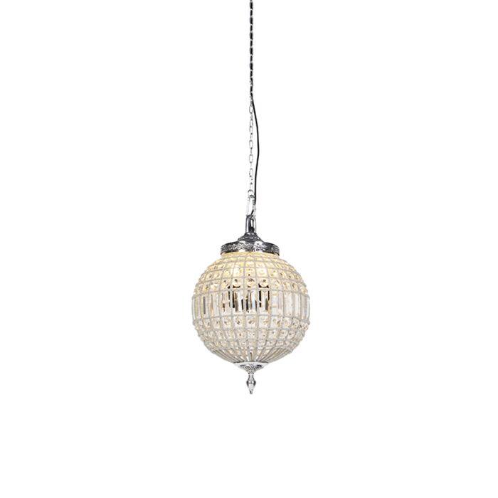Art-Deco-hanglamp-kristal-met-zilver-35-cm---Kasbah