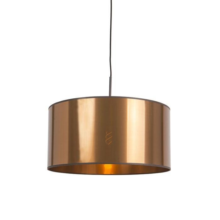 Art-Deco-hanglamp-wit-met-koperen-kap-50-cm---Combi-1