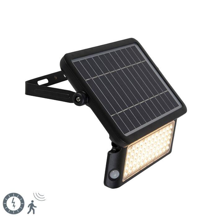 Straler-zwart-incl.-LED-met-beweging-sensor-IP65-solar---Teho