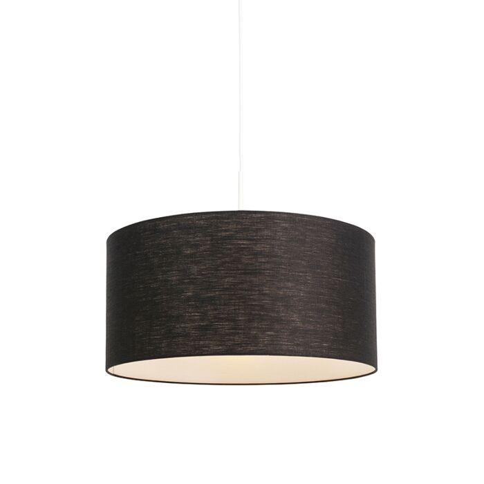 Moderne-hanglamp-wit-met-zwarte-kap-50-cm---Combi-1