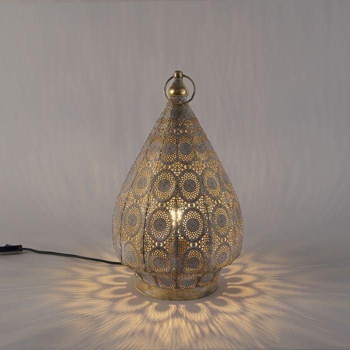 Oosterse-tafellamp-goud-28-cm---Mowgli