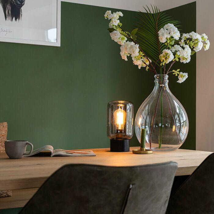 Design-tafellamp-zwart-met-smoke-glas---Bliss-Cute