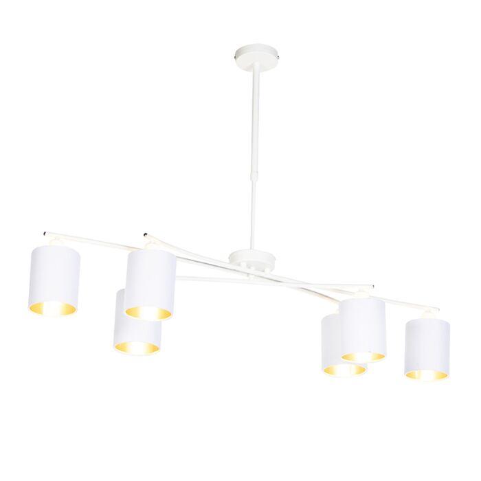 Moderne-hanglamp-wit-verstelbaar---Lofty