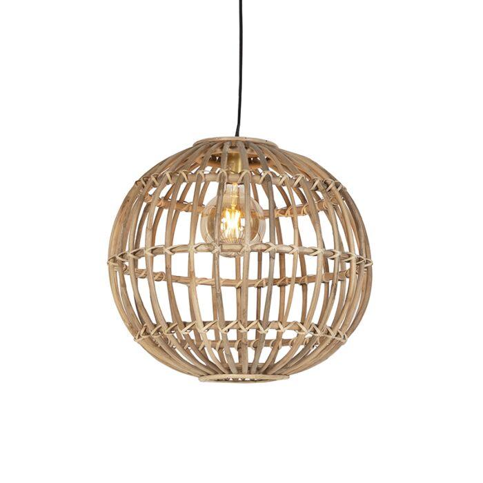 Landelijke-hanglamp-naturel-bamboe---Cane-Ball-50