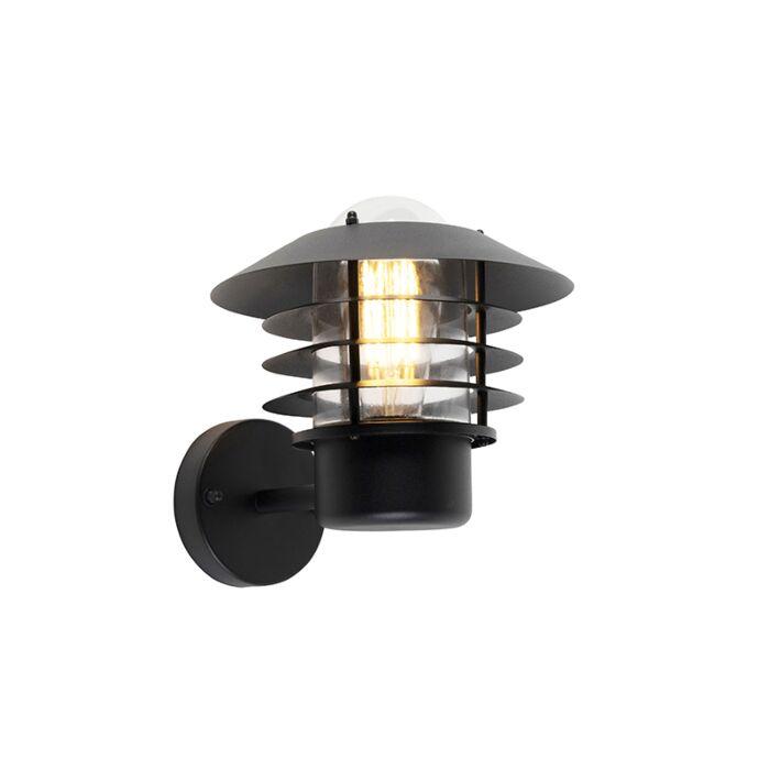Moderne-buitenwandlamp-zwart-IP44---Prato-Up
