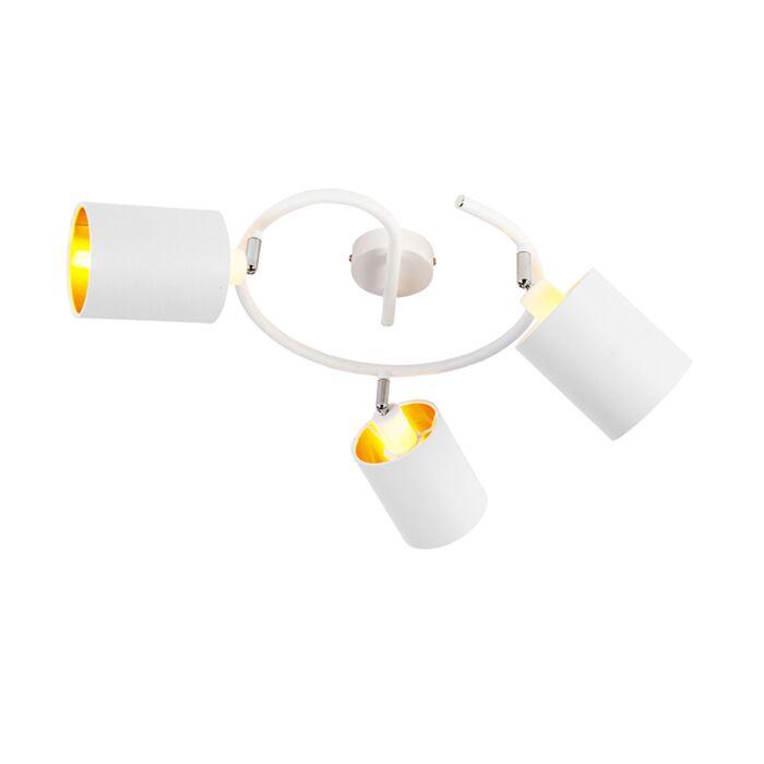 Moderne-plafondlamp-wit-3-lichts---Lofty