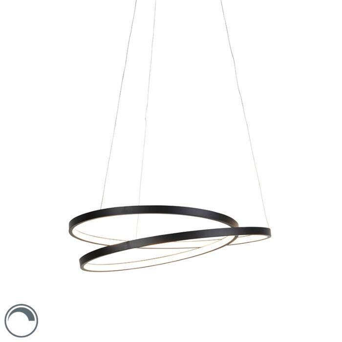 Design-hanglamp-zwart-55cm-incl.-LED-dimbaar---Rowan