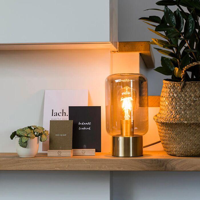 Design-messing-met-smoke-glas-tafellamp---Bliss-Cute