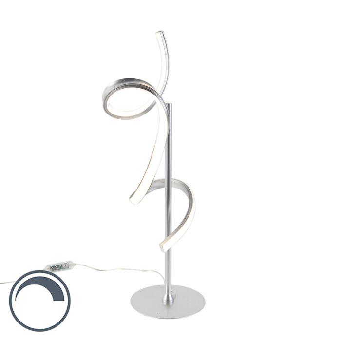 Design-tafellamp-zilver-incl.-LED-en-dimmer---Krisscross