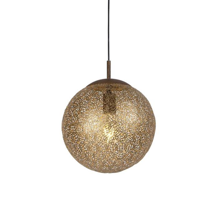Landelijke-hanglamp-roestbruin-30cm---Kreta