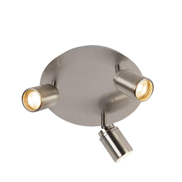 Moderne-badkamer-spot-staal-3-lichts-IP44---Ducha