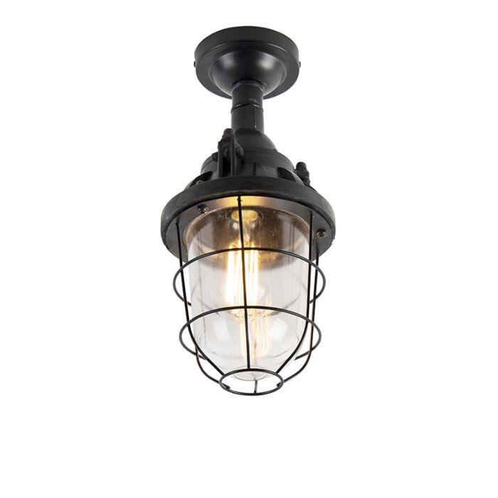 Industriële-plafondlamp-zwart---Cabin
