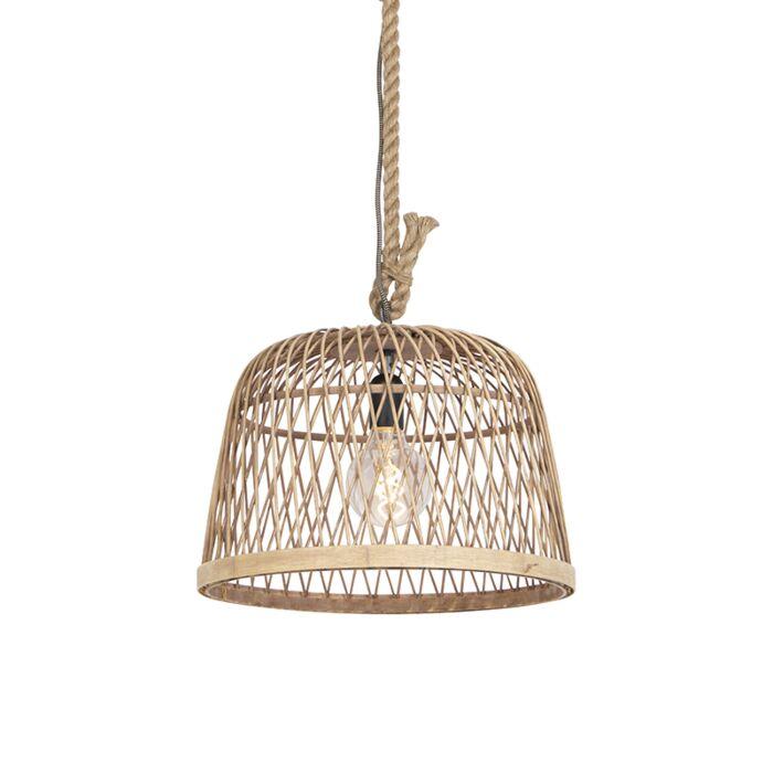 Landelijke-hanglamp-rotan---Calamus