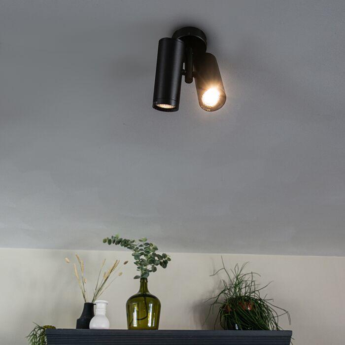 Design-spot-zwart-2-lichts---Scopio-Honey