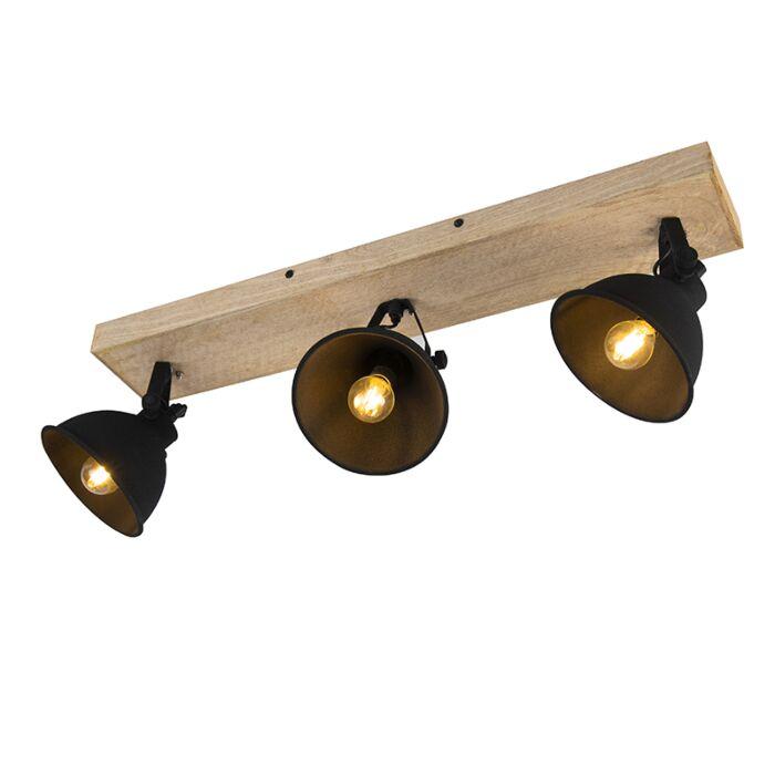 Stoere-spot-zwart-met-hout-3-lichts---Fors