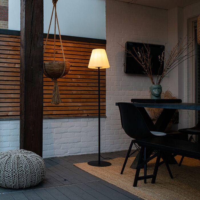 Moderne-buiten-vloerlamp-zwart---Virginia