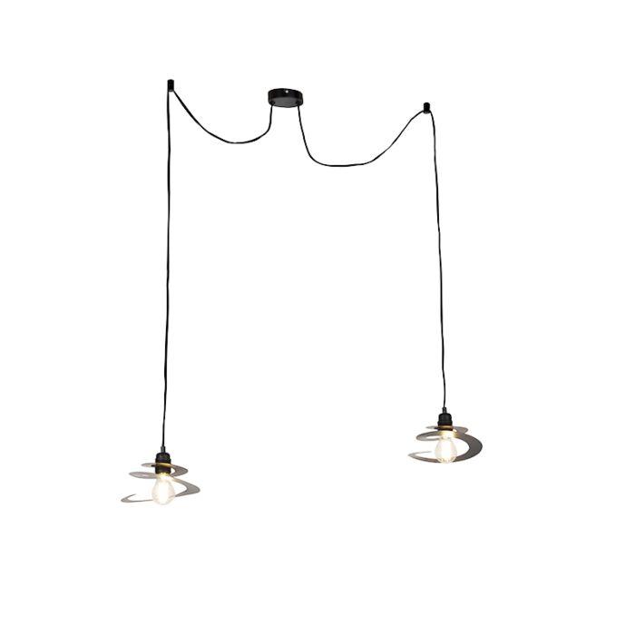Design-hanglamp-2-lichts-met-spiraal-kap-20-cm---Scroll