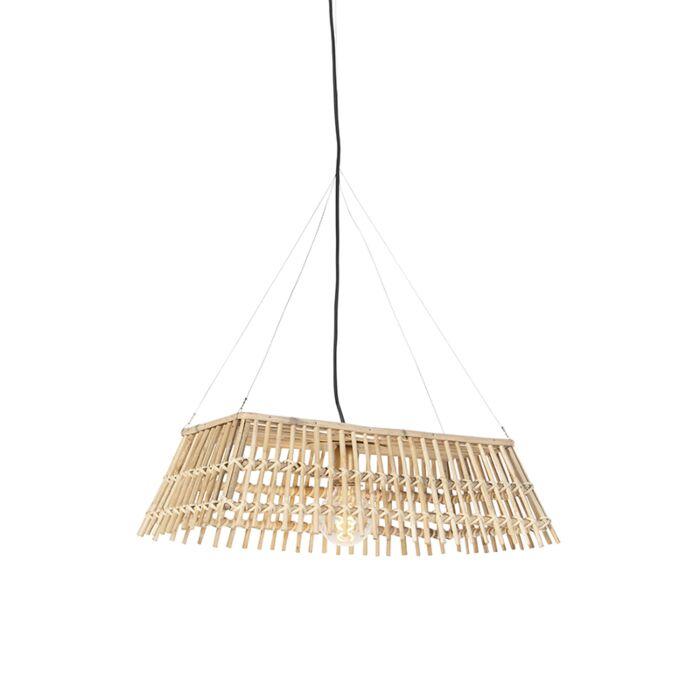 Landelijke-hanglamp-bamboe---Cane-Recta