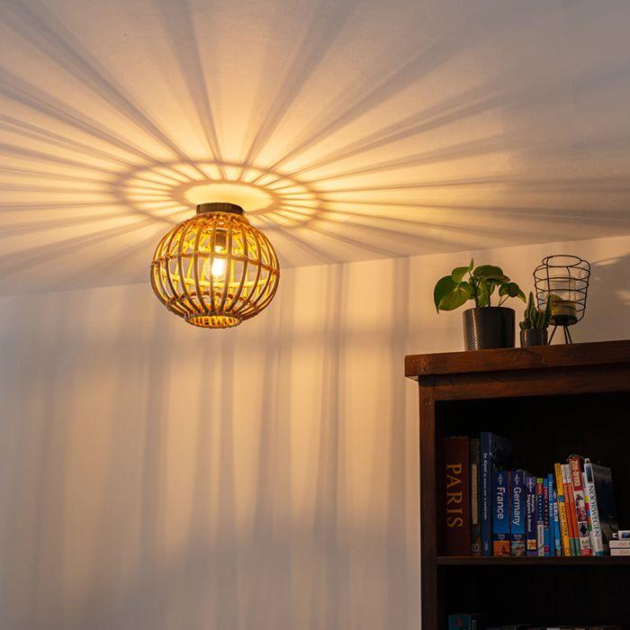 Landelijke-plafondlamp-bamboe-30-cm---Canna