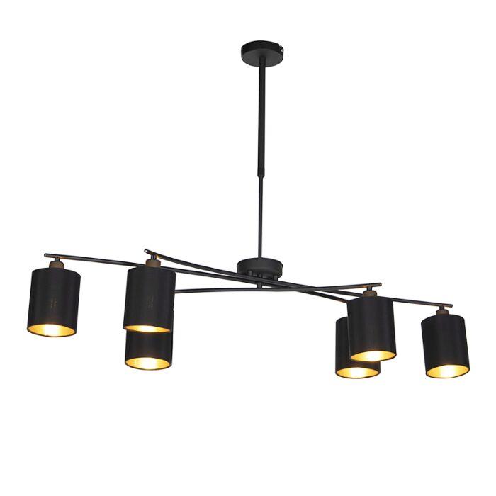Moderne-hanglamp-zwart-verstelbaar---Lofty