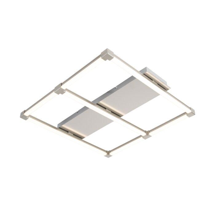 Design-vierkante-plafondlamp-staal-incl.-LED---Plazas