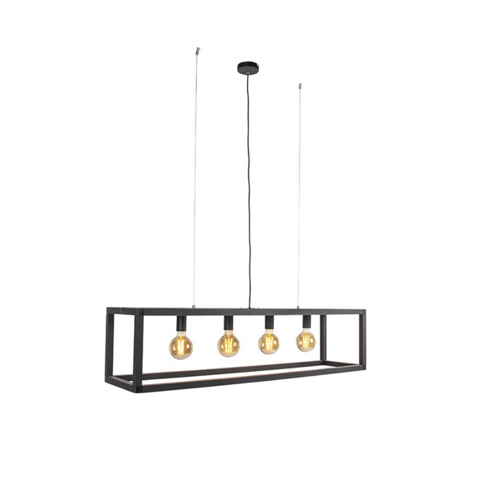 Industriële-hanglamp-zwart-4-lichts---Big-Cage-2