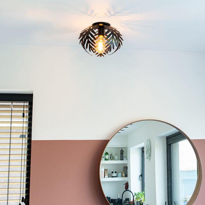 Vintage-plafondlamp-small-zwart---Botanica