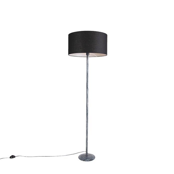 Vloerlamp-grijs-met-zwarte-kap-50-cm---Simplo