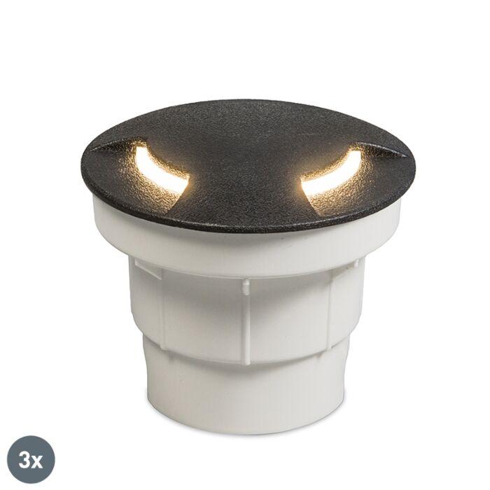 Set-van-3-buiten-grondspot-zwart-incl.-LED-IP67---Ceci-2