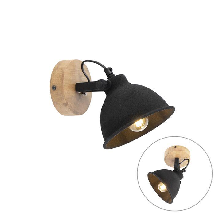 Industriële-spot-zwart-1-lichts---Fors