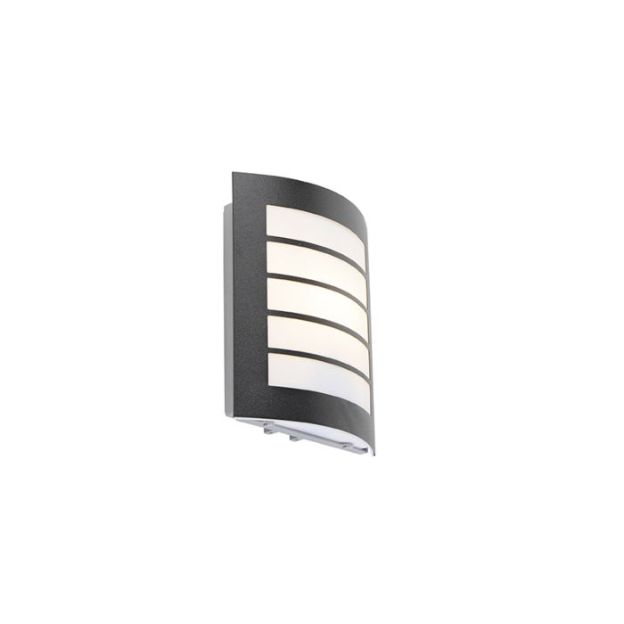 Moderne-buitenwandlamp-zwart-IP44---Miro