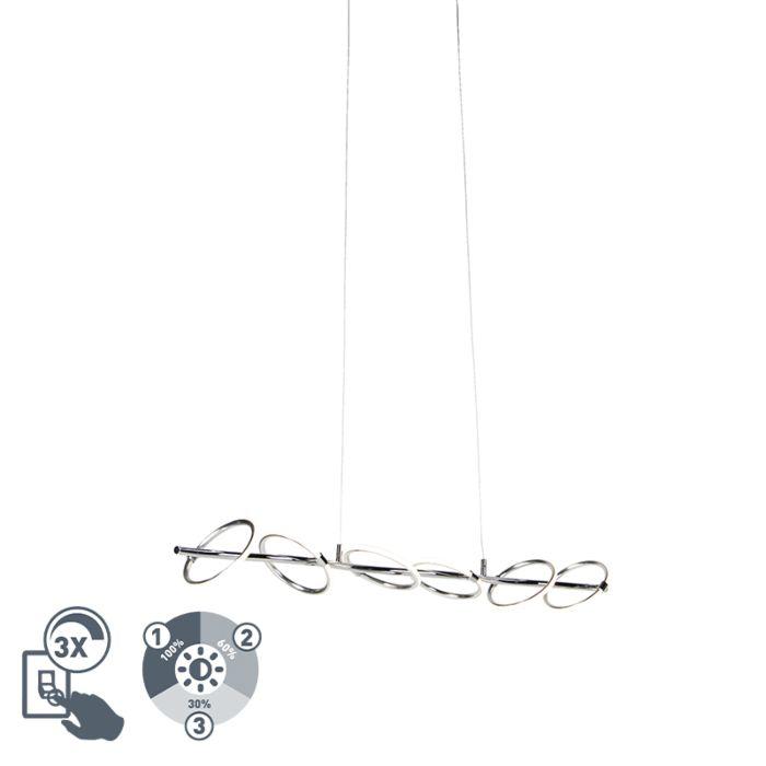 Design-hanglamp-chroom-incl.-LED---Olympia