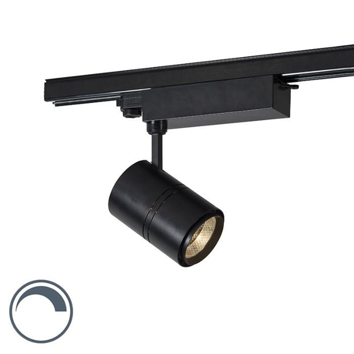 Moderne-dimbare-3-fase-railspot-zwart-incl.-LED-3000K---Ruler-38