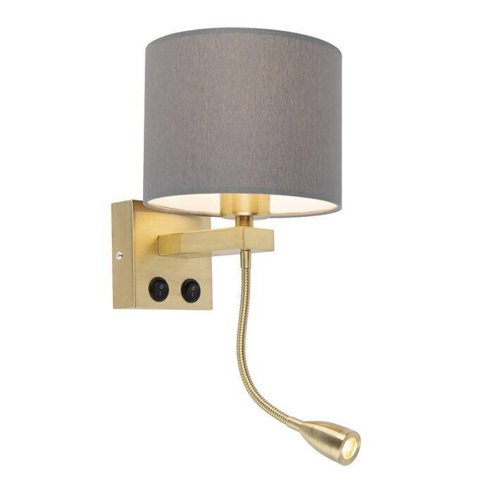 Art-deco-wandlamp-goud-met-grijze-kap---Brescia