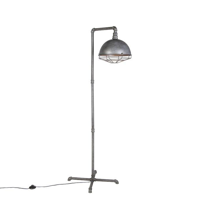 Industriële-vloerlamp-antiek-zilver---Course
