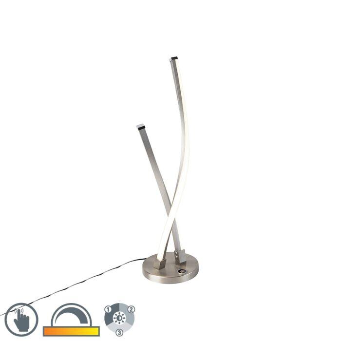 Design-tafellamp-staal-incl.-LED-en-touchdimmer---Paulina