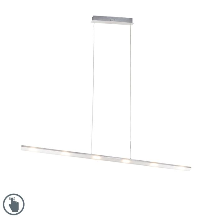 Design-hanglamp-staal-incl.-LED-met-touch-dimmer---Platina